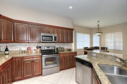Solid wood cabinetry and granite countertops