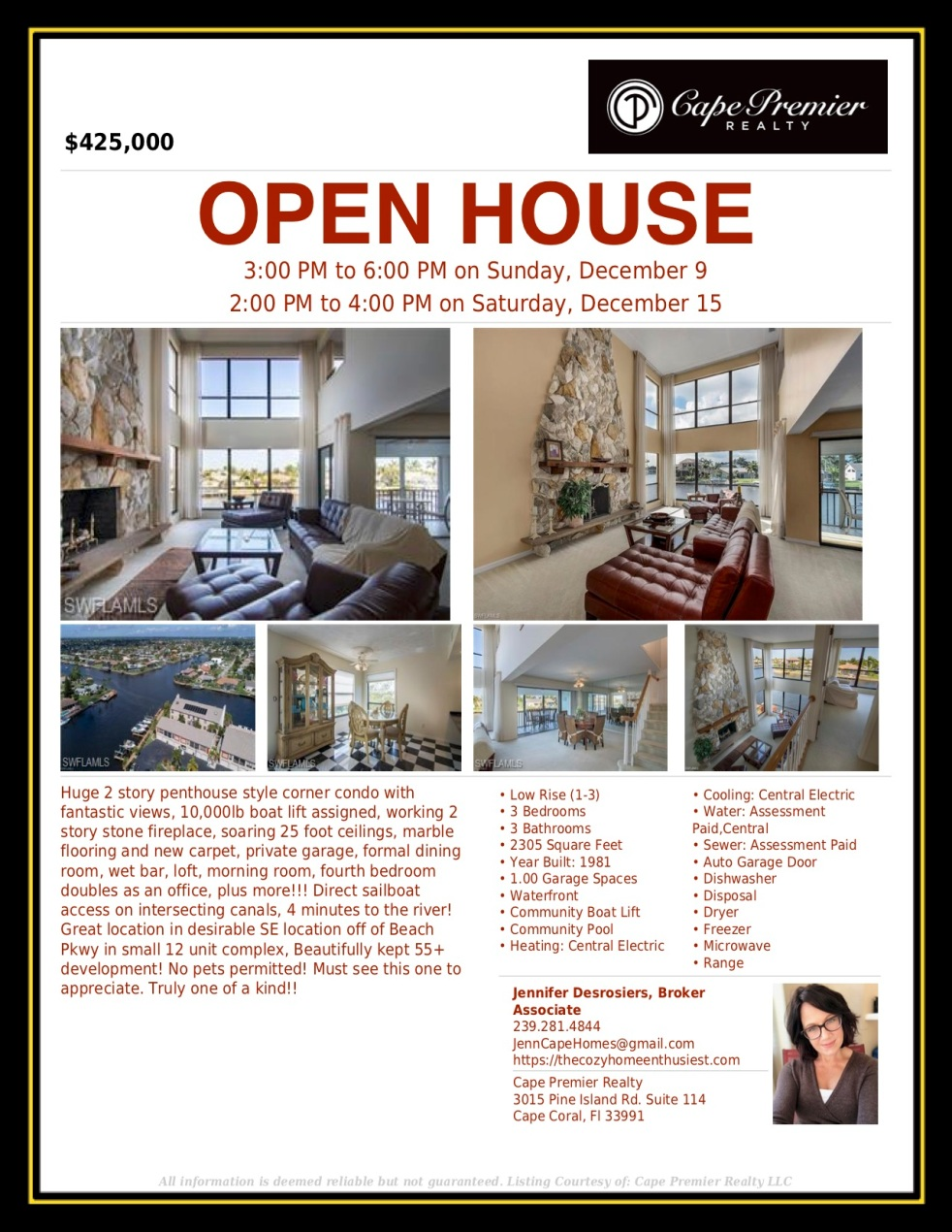 Open House Flyer - 40th Ter.