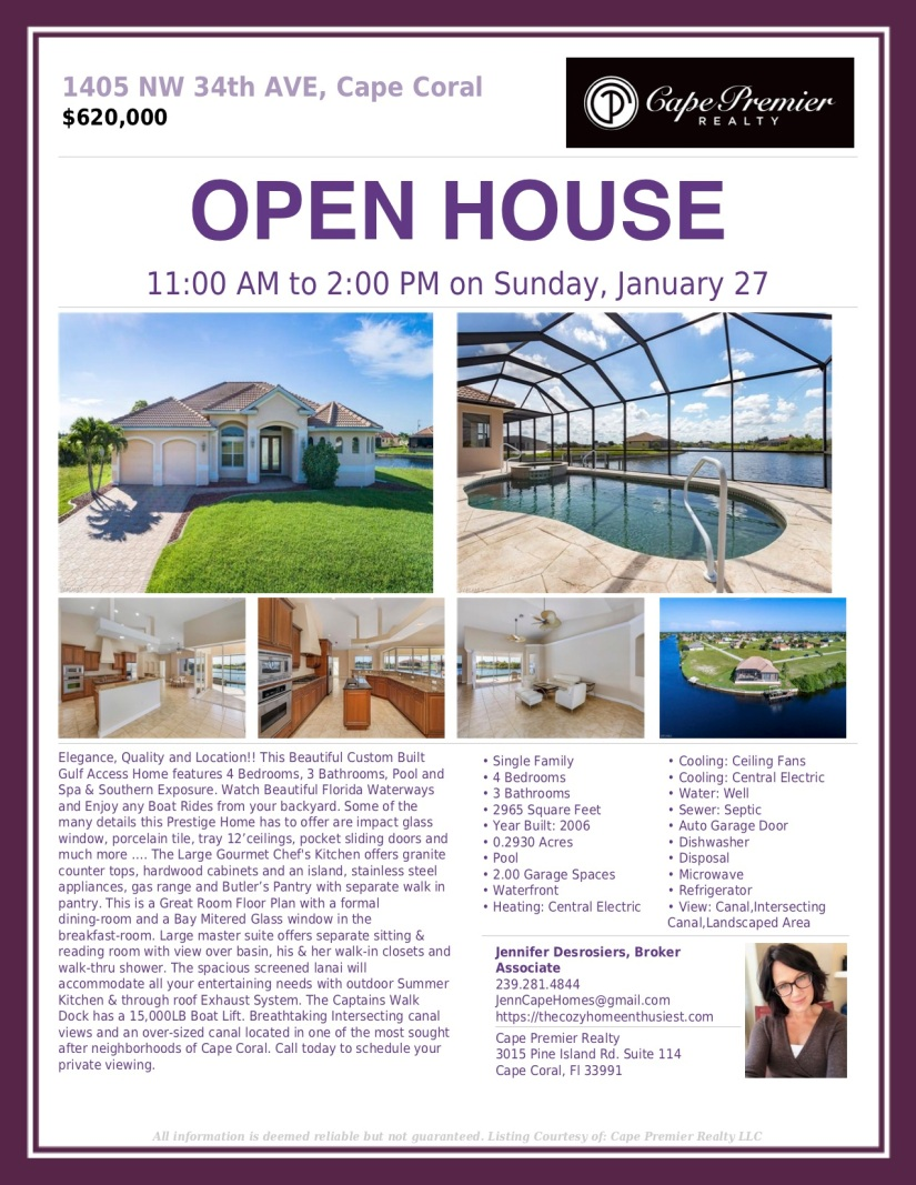 open house - sunday!