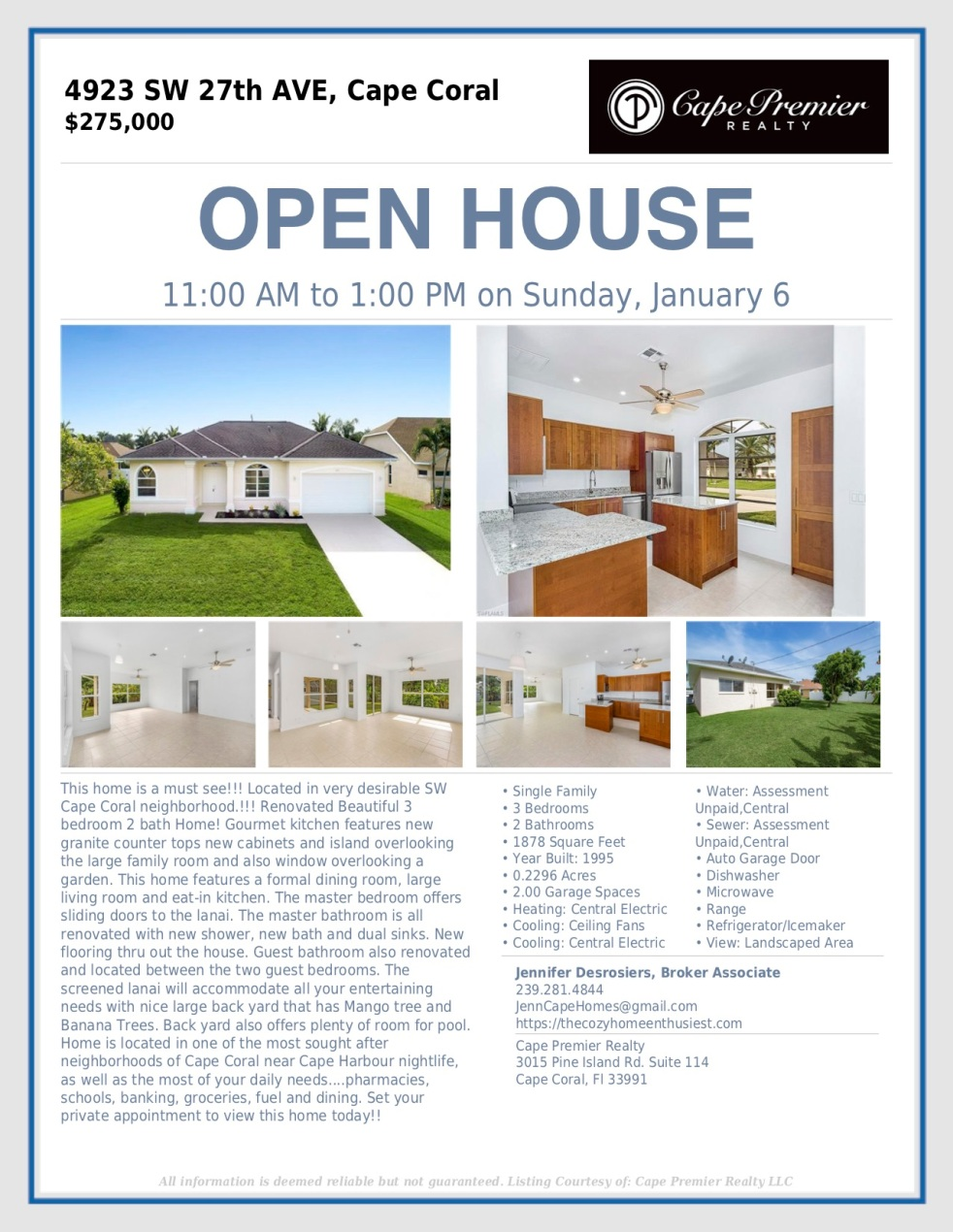 open house sw 27th avve.